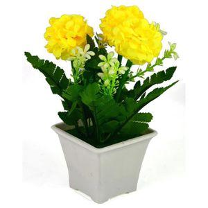 fleurs artificielles en pot achat vente fleurs artificielles en pot pas cher cdiscount. Black Bedroom Furniture Sets. Home Design Ideas