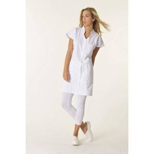 Tina Blouse Medicale Femme Blanche Manches Courtes Achat Vente