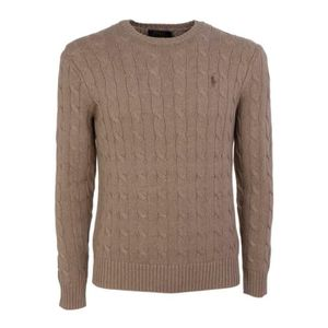 08d16f1f6573f PULL RALPH LAUREN HOMME 710529074029 MARRON COTON MAILL