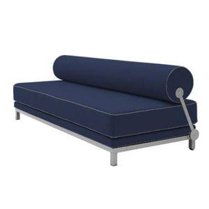 CLIC-CLAC Canapé lit convertible design SLEEP en tissu coton
