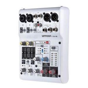 TABLE DE MIXAGE ammoon AM-4R 6-canaux Console de mixage Audio numé