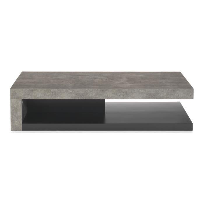 Hilo Table basse imitation béton brut - Achat / Vente table basse ...