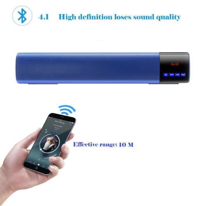 V3.0 Haut-parleur Portable Bluetooth Sans Fil Superbe Son Hd Et Basse @zo4037