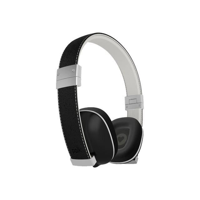 Casque Micro Filaire Polk Hinge Pliable/micro/cuir