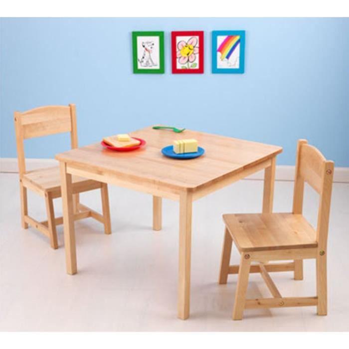 Bureau Pour Chambre Enfant En Bois Avec Deux Chaises