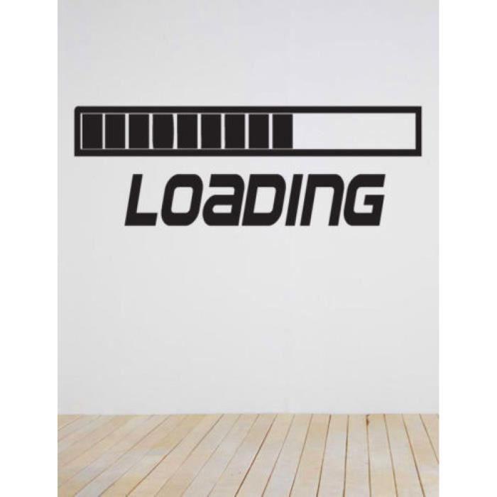chargement jeu gamer il ordinateur r tro maison decoration sticker adh sifs muraux vinyle. Black Bedroom Furniture Sets. Home Design Ideas