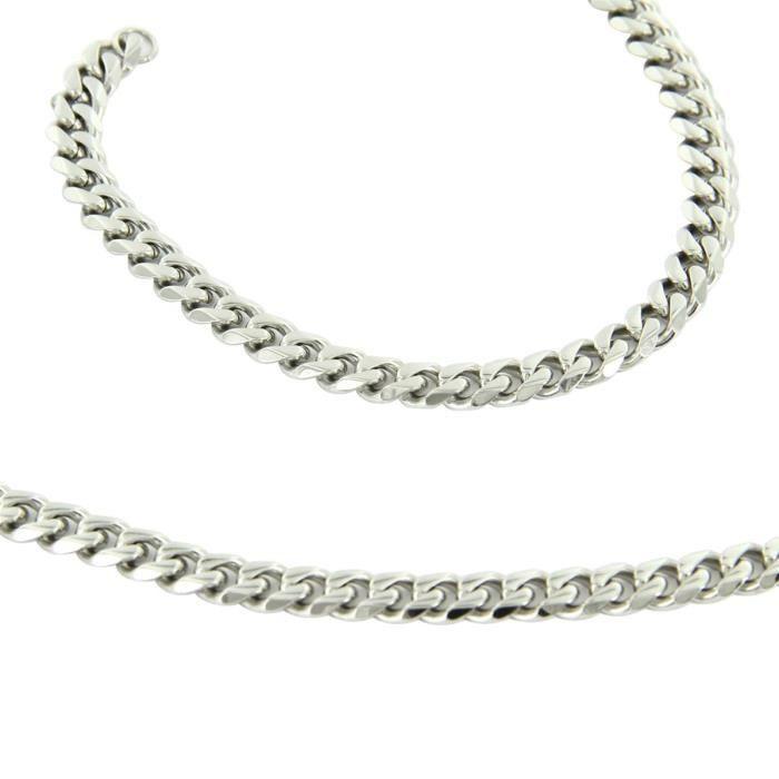 Parure en Acier Collier Bracelet Homme M H 1161 - Achat   Vente ... bc3263e6131
