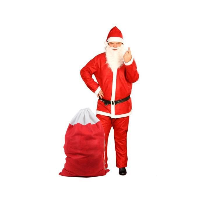 a488986d89124 CHAPEAU - PERRUQUE Costume père noël + Sac de cadeau (KV-73a) déguise
