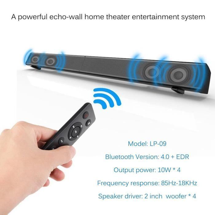 """BARRE DE SON Leshp® Lp-09 2.1"""" Soundbar Bluetooth 4.0 40W Eu Pl"""