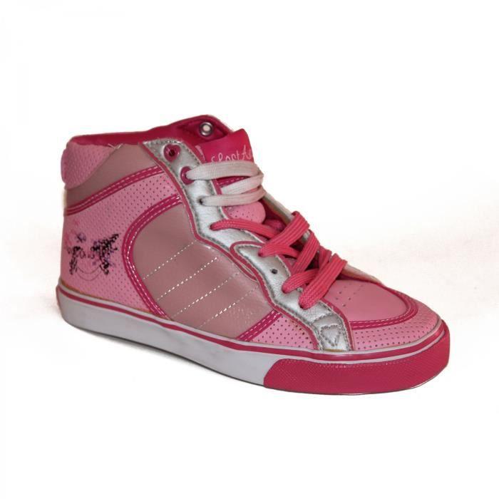 samples shoes HI TOP LOST ANGELS QUEEN BEE PINK WOMEN