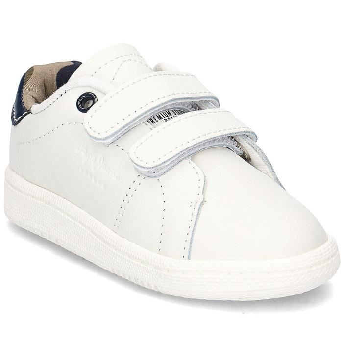 Chaussures Pepe Jeans Brompton Blanc Blanc - Achat   Vente basket ... 7e266d3677b8