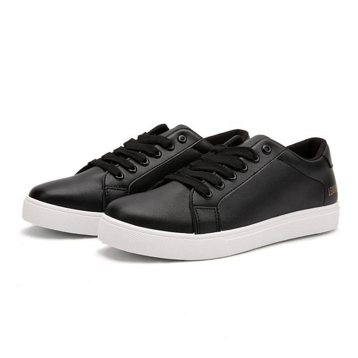 JOZSI Chaussures Homme Cuir Confortable mode Homme chaussure de ville FXG-XZ210Noir36