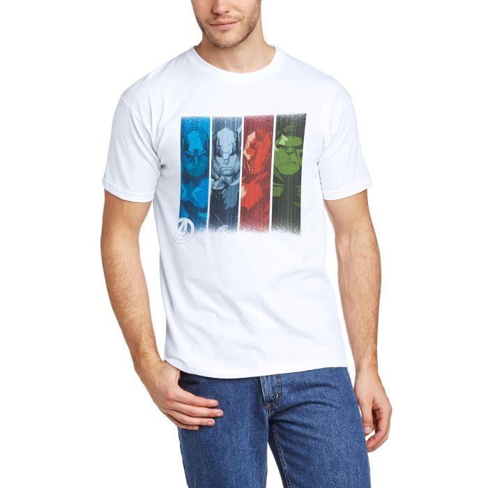 T Sleeve Team Avengers Shirt Short Strips Assemble Marvel qqRvH