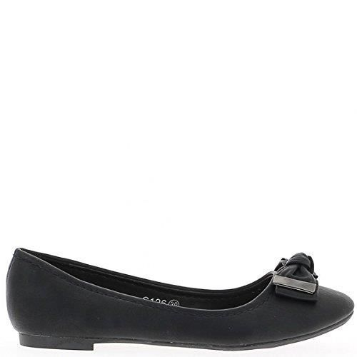 a9689c3a67989 Ballerine noire avec noeud 1NER2R Taille-39 Noir Noir - Achat ...