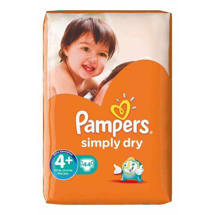Pack 44 Couches Pampers Simply Dry 4 Achat Vente Couche