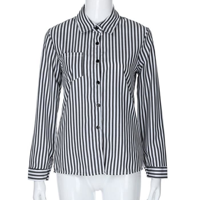 Longues Rayures Gray À Pour T Femmes L Yxp80417641gyl Manches Fashon shirt wpntA