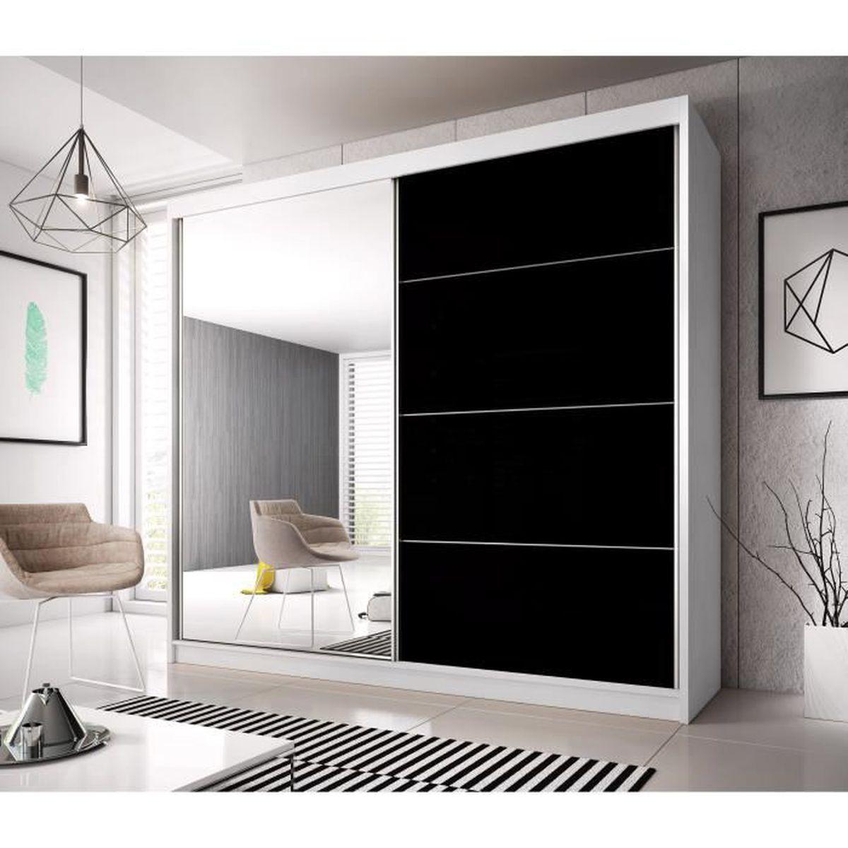 Armoire contemporaine 2 portes coulissantes Jackson - Achat / Vente ...