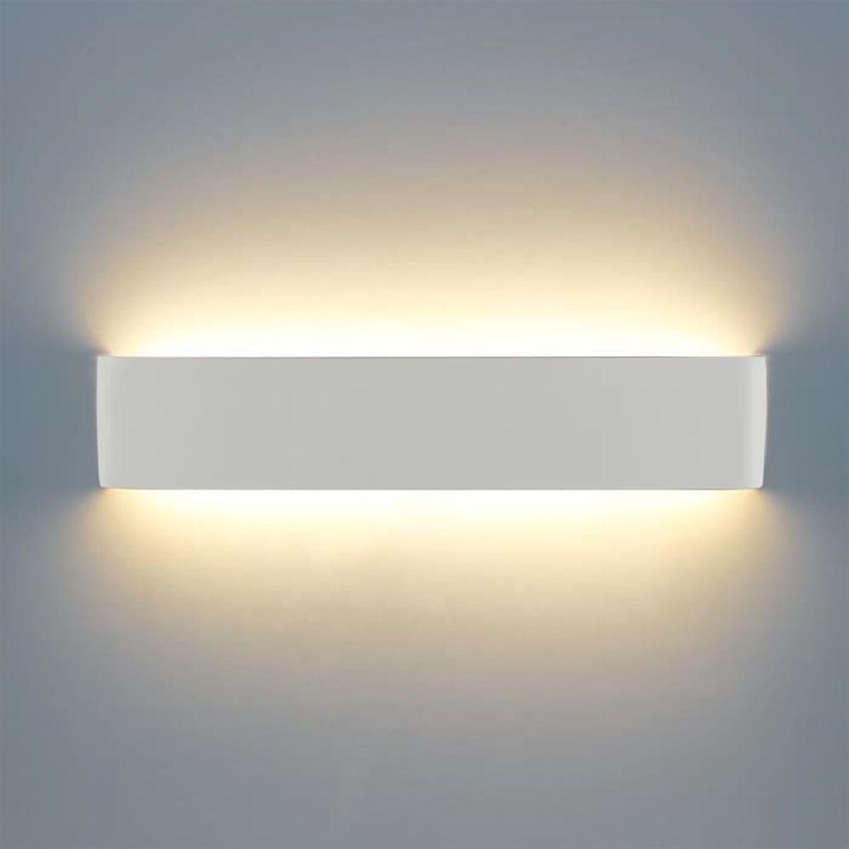 applique murale intérieur moderne lampe 40cm 16w 1200lm lumières