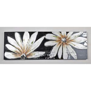 TABLEAU - TOILE Tableau déco Fleurs  24 -  Toile peinte à la main