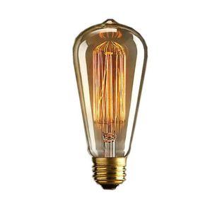 AMPOULE - LED Rétro ST64 Edison Ampoule E27 25W / 40W Jaune Lumi