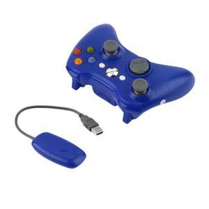 ADAPTATEUR MANETTE Bleu PC universel Manette sans fil pour XBOX360