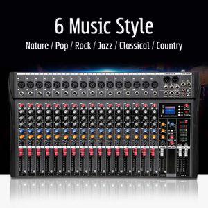 TABLE DE MIXAGE TEMPSA Table de Mixage Professionnel 16 canaux USB