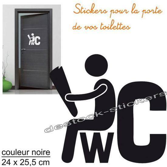 Stickers Autocollant Pour La Porte Des Wc Toilettes Achat Vente