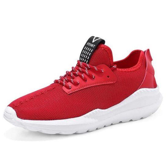 Chaussure De Trail Arrivee Homme Dexterity AthléTique Nouvelle Arrivee Trail Haute Qualité Masculines Ultra-RéSistant à L'Abrasion Rouge Rouge - Achat / Vente basket db3b73