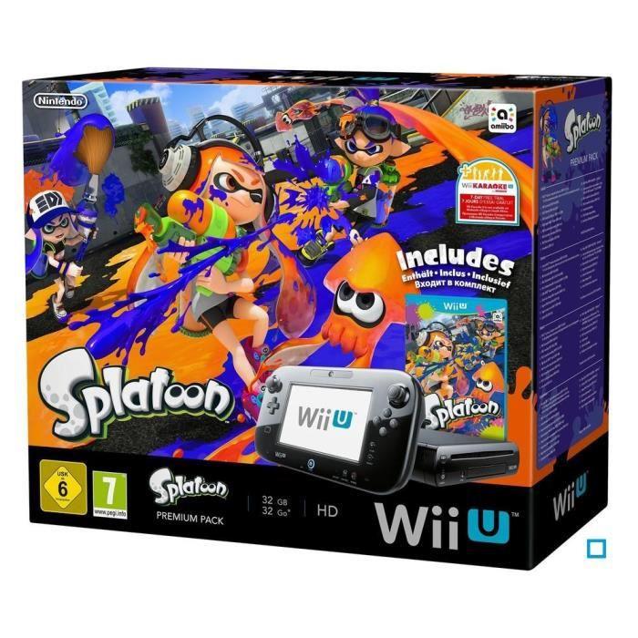 Pack premium splatoon wii u achat vente console wii u - Console wii prix carrefour ...