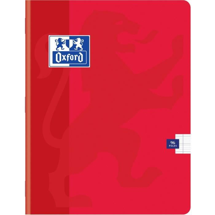 OXFORD Cahiers Color Life 17x22 Seyes - Rouge