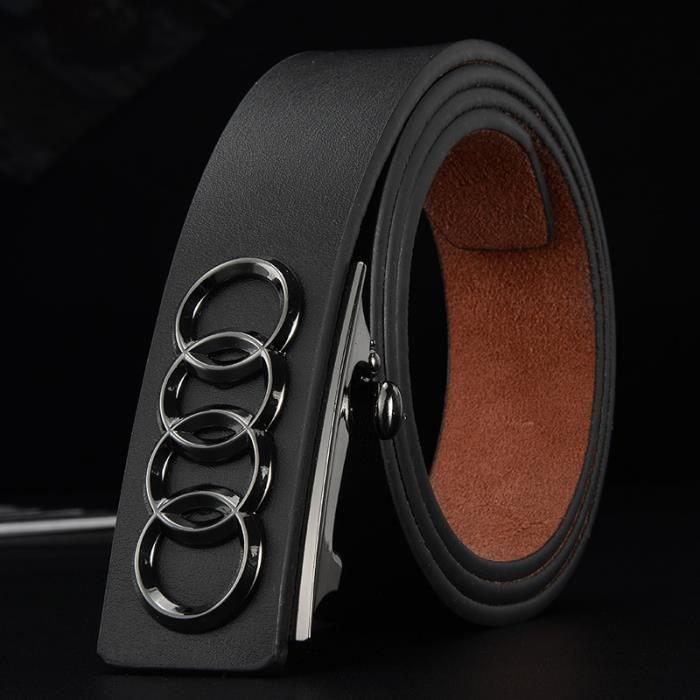 98fba1e2ba55 La nouvelle mode classique grand nom ceinture en cuir hommes boucle ceinture  en cuir automatiquement Audi affaires