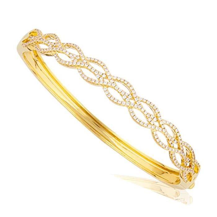 SF Bijoux - Bracelet plaqué or OZ jonc Ø65 - (401257)