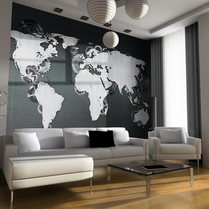 affiche g ante poster xxl carte du monde 350x245 cm 7 l s achat vente papier peint. Black Bedroom Furniture Sets. Home Design Ideas
