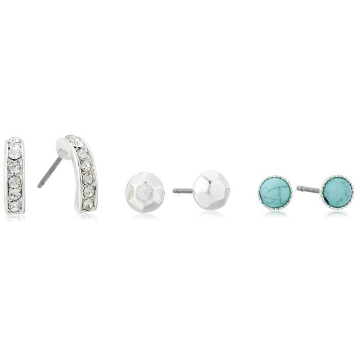 Kenneth Cole New York Turquoise Bead And Pave Curved Stick Stud Earrings R51JN
