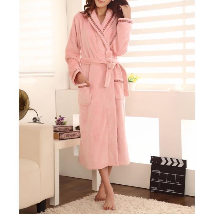 robe de chambre femme polaire rose claire - achat / vente robe de