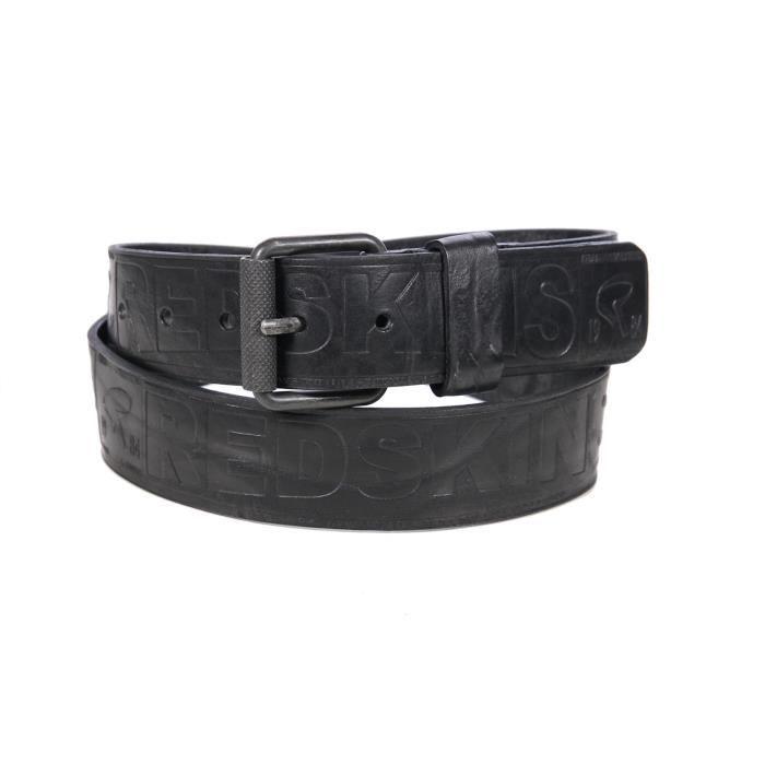 e6fd3f8a83b Redskins - Homme - Ceinture noire en cuir Arty Noir Noir - Achat ...