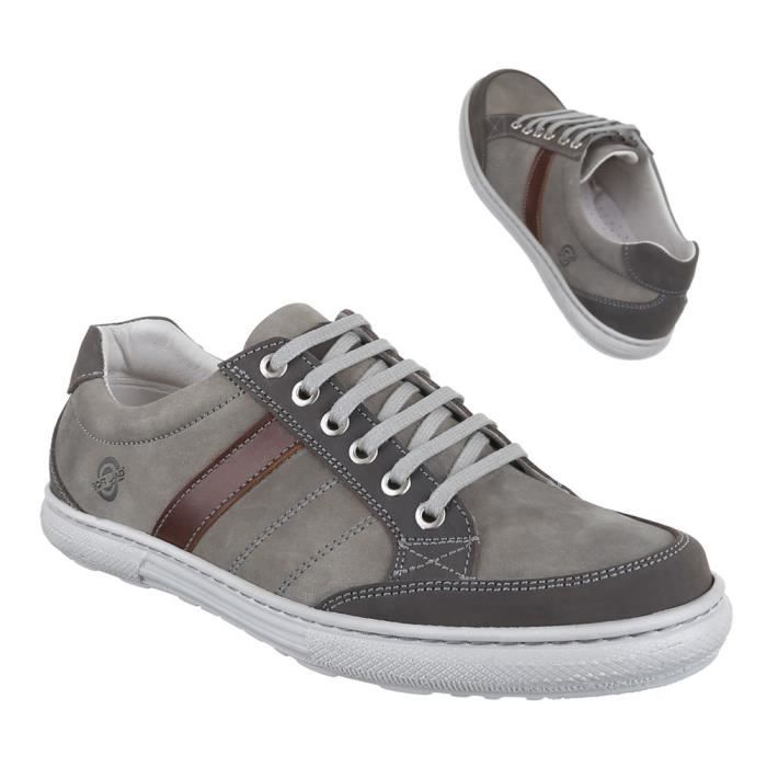 Chaussures homme Basket cuir Low-top