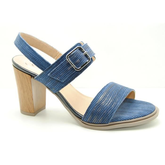 Femme - Sandalia tacon - Moda Bella - MODA BELLA 72/1091 - Azul marino - (34)