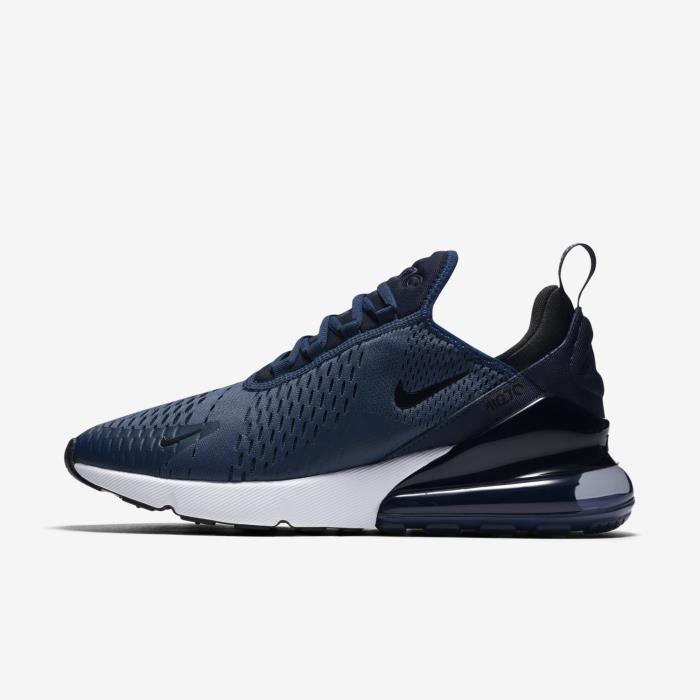 acd007d966 Baskets Nike Air Max 270 Homme AH8050-400 Chaussures de Running  Entrainement Navy Bleu/Blanc/Noir