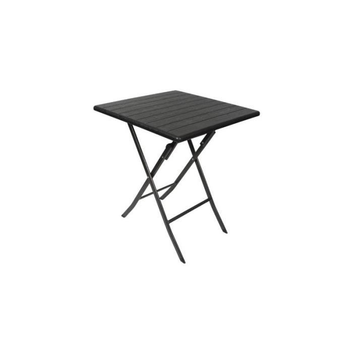 Table pliante - carrÉ - imitation bois - 62 x 62 x 73.5 cm - Achat ...