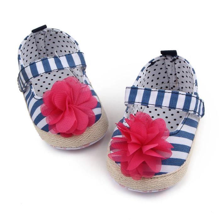 chaussures chaussures Bébé pointillés autocollants BOTTE fille semelle les rayures infantile fleurs BleuHM apprendre qzCqB8w