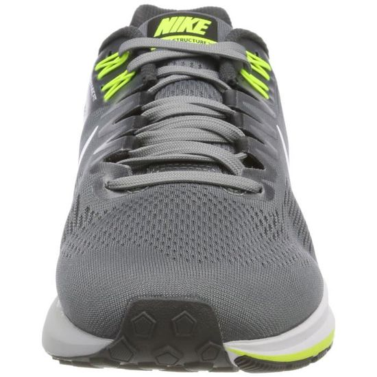 pretty nice dee9b a265a Nike Men s Air Zoom Structure 21 Running Shoe Wide (2e) Cool Grey-white- anthracite-volt DV4HP Taille-38 - Prix pas cher - Cdiscount