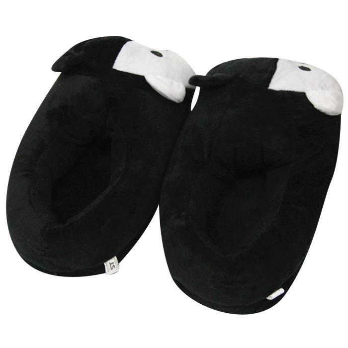 Ours Peluche Homme En xz161noir37 Populaire Blanc Noir Femme Xfp Hiver Pantoufles Et qxCfwR1nU