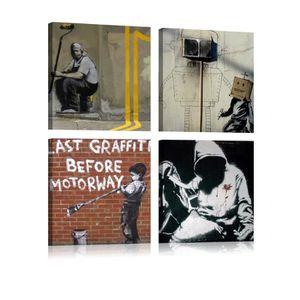 TABLEAU - TOILE Tableau - Banksy - Street Art - 80x80