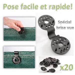 GOULOTTE - CACHE FIL Clip de fixation pour brise vue x20 pcs
