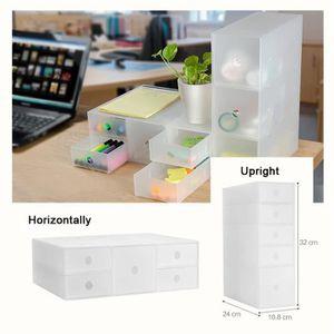 BOITE DE RANGEMENT Boîte de rangement cosmétique tiroir plastique Tra