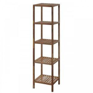 etagere bois salle de bain achat vente etagere bois salle de bain pas cher cdiscount. Black Bedroom Furniture Sets. Home Design Ideas