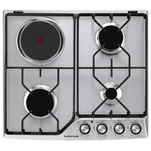 table de cuisson mixte de dietrich dte1111x achat vente plaque mixte cdiscount. Black Bedroom Furniture Sets. Home Design Ideas