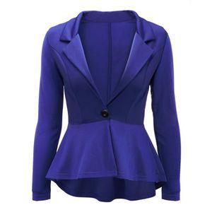 Women's Ruffles Peplum Sleeve Blazer Casual Jacket Work Office Long gr5FgExqw