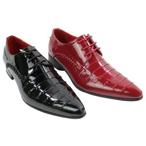 4d99fa62eb1f69 DERBY Chaussures homme design italien lacets simili cuir